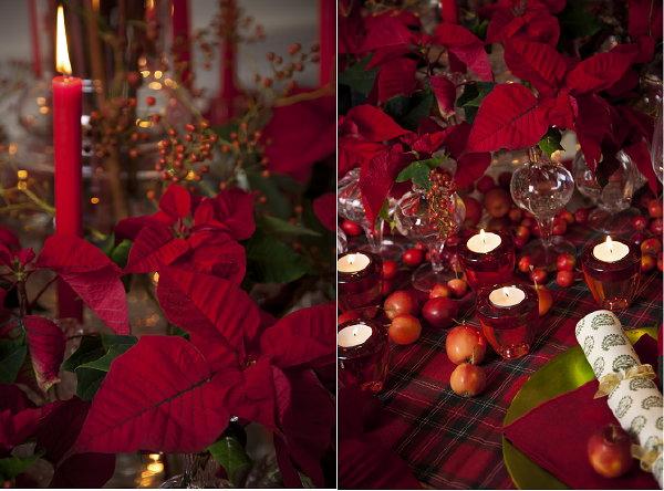 Kerst Tafel Decoratie : Kersttafel trend vintage rood kerststerdag
